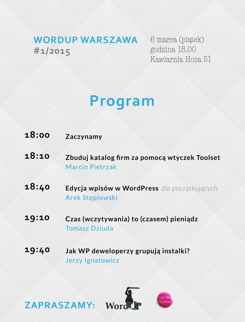 Agenda WordUp wiosna